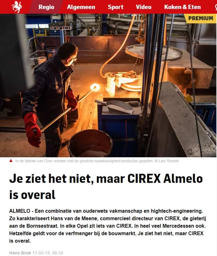 Press release news paper: even if you don't see it, CIREX is everywhere